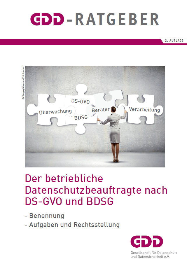 """GDD-Ratgeber """"Der betriebliche Datenschutzbeauftragte"""" in 2. Aufl. erschienen"""