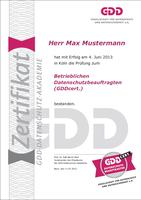 GDDcert.-Muster-Urkunde