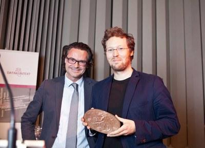 Prof. Dr. Rolf Schwartmann mit Jan Philipp Albrecht, MdEP