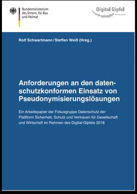 Broschüre Anforderungen datenschutzkonforme Pseudonymisierung