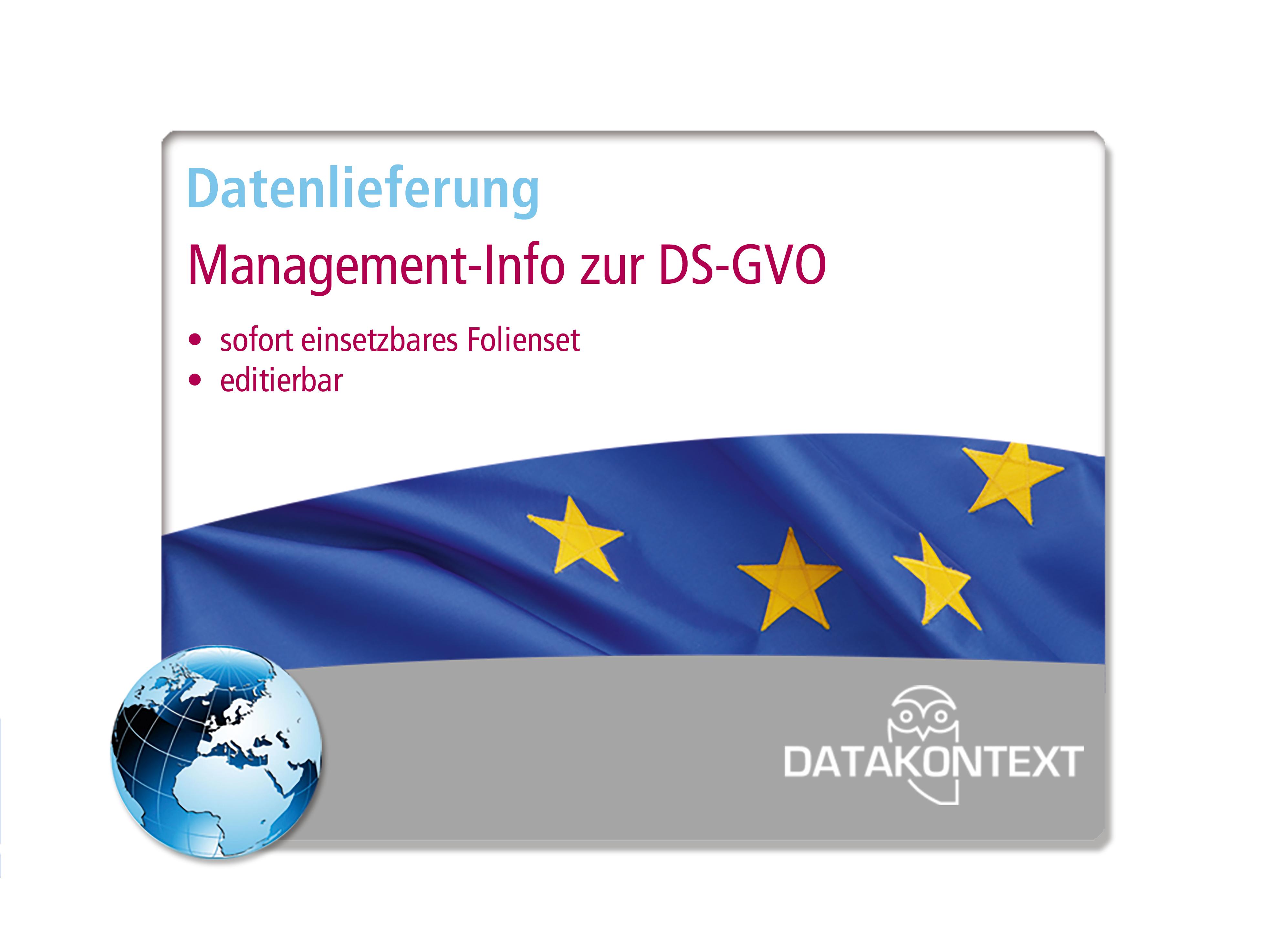 Management-Info zur DS-GVO